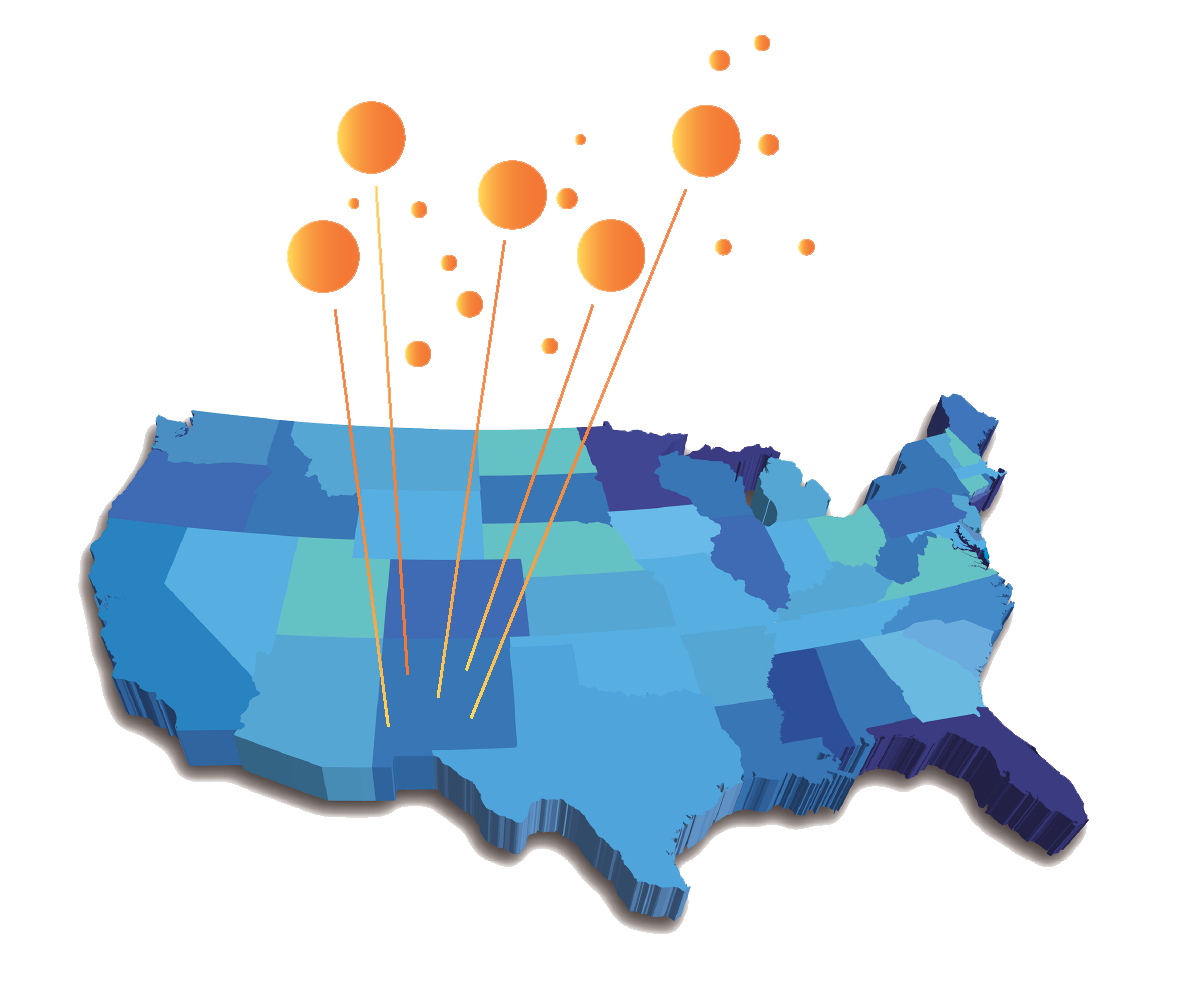 Map of New Mexico MEP success stories