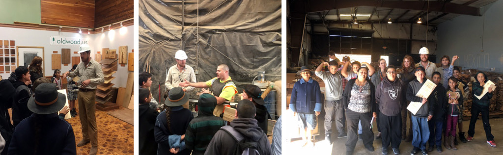 Old Wood Manufacturing Day 2016 student tour
