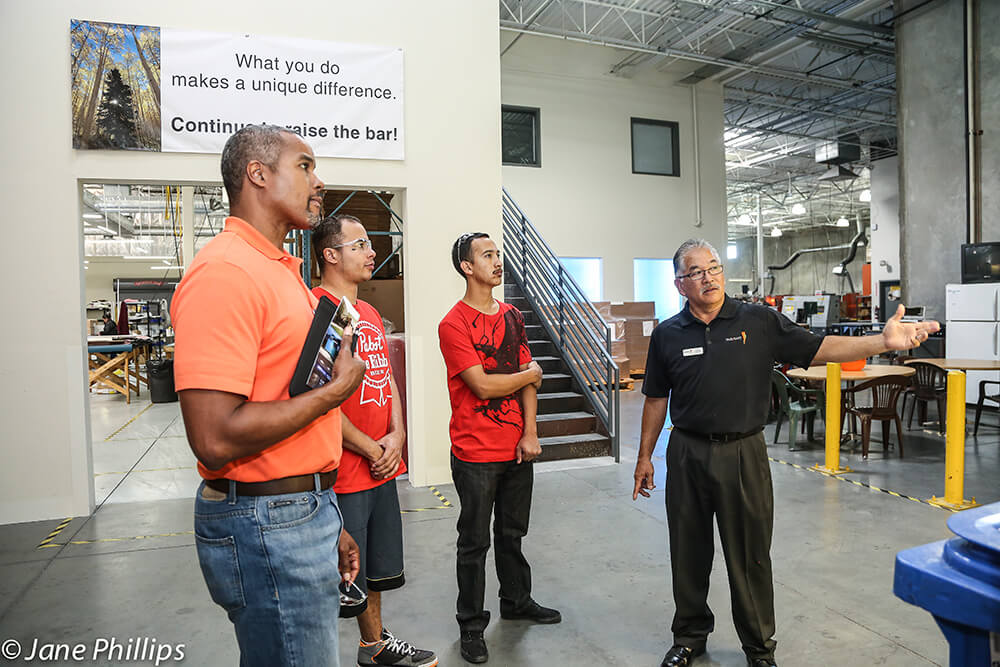 Group touring manufacturing center